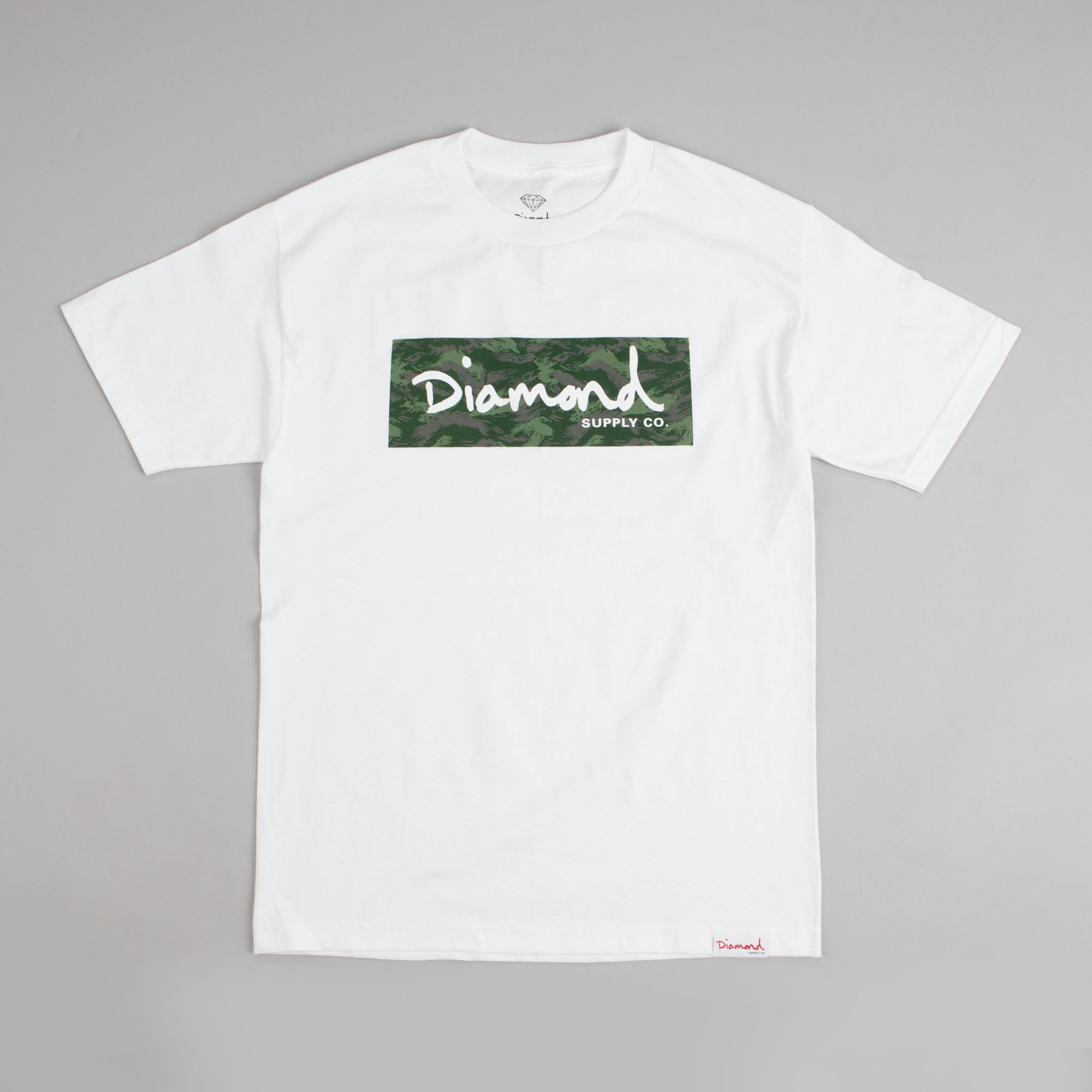 Diamond Tonal Box Logo T Shirt White