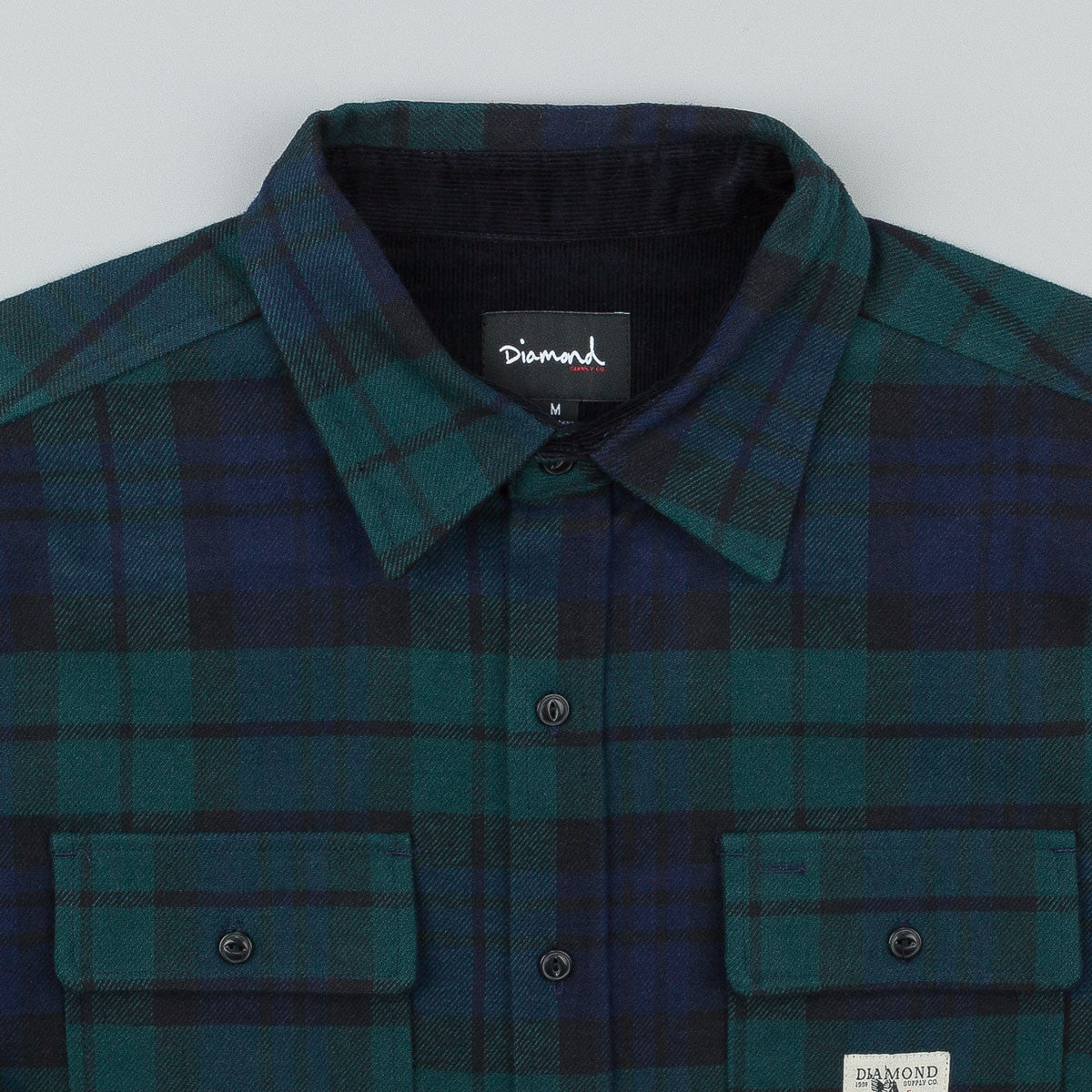 Diamond Caribou Flannel Plaid Shirt - Navy