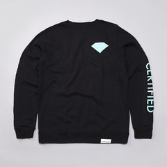 Diamond Certified Crew Neck Sweatshirt Black