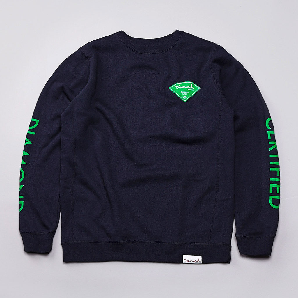 Diamond Certified Crew Neck Sweatshirt Navy