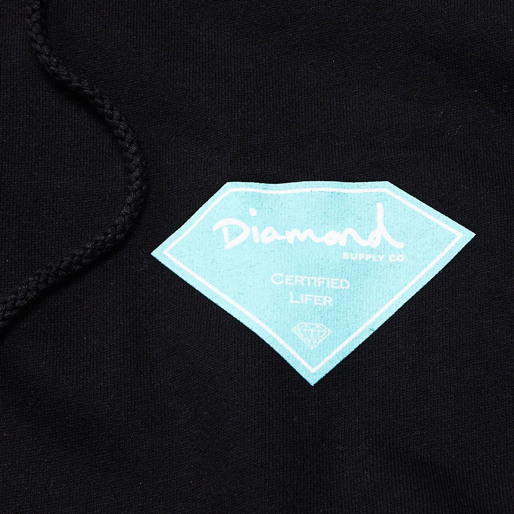 Diamond Certified Lifer Hooded Sweatshirt Black