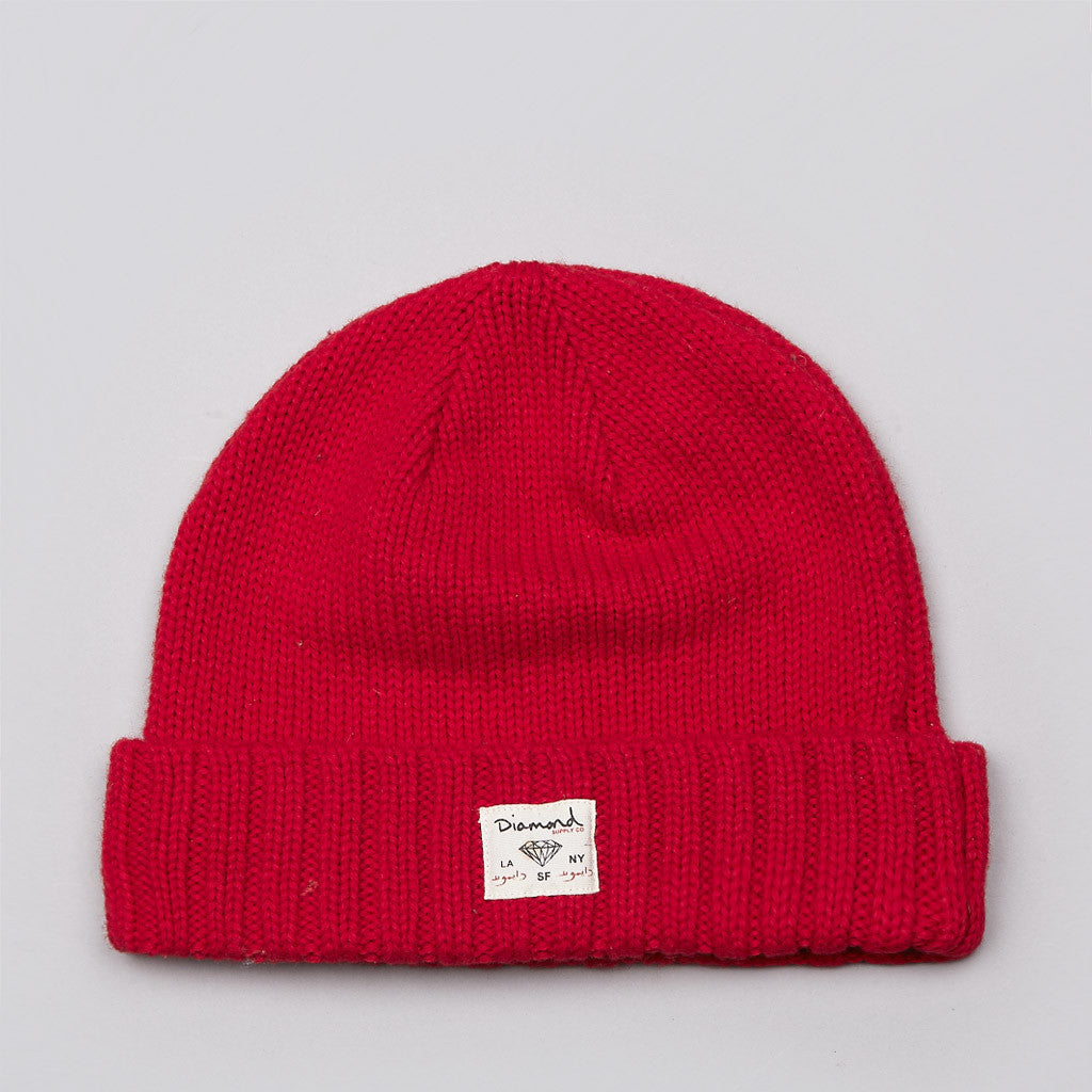 Diamond City Cuff Beanie Red