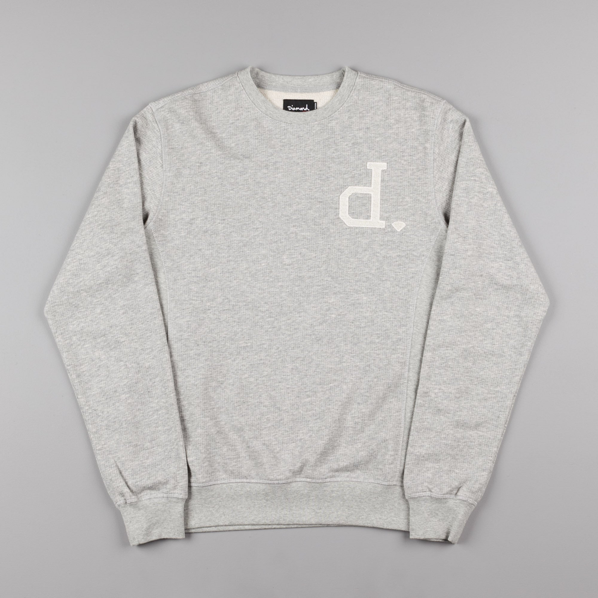 Diamond Un-Polo Crewneck Sweatshirt - Heather Grey