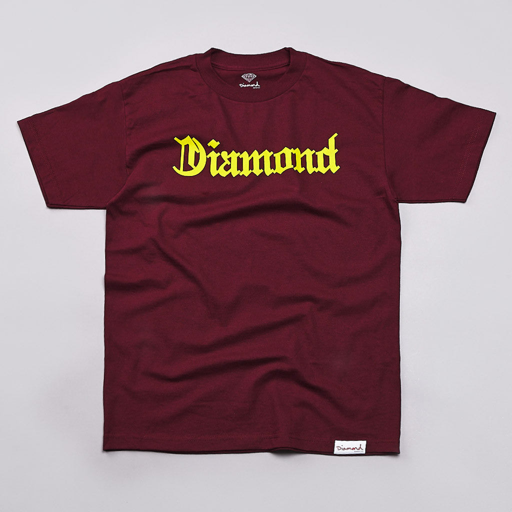 Diamond Diamond4life T Shirt Burgundy