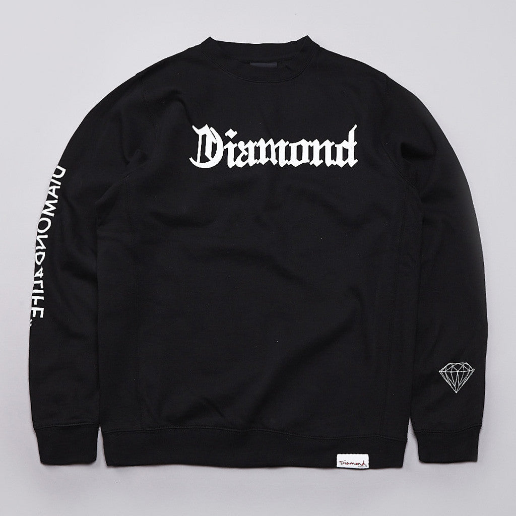 Diamond DIamond4life Crew Neck Sweatshirt Black