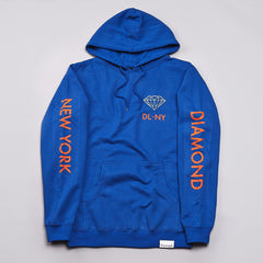 Diamond DL-NY Hooded Sweatshirt Royal Blue