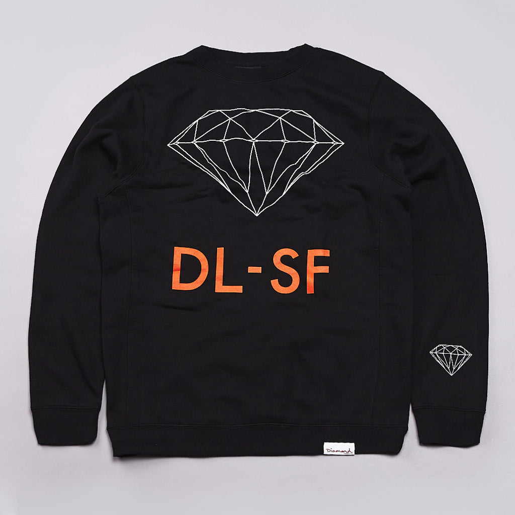 Diamond DL-SF Crew Neck Sweatshirt Black