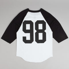 Diamond Dugout 98 3/4 Sleeve Raglan T-Shirt - White / Black