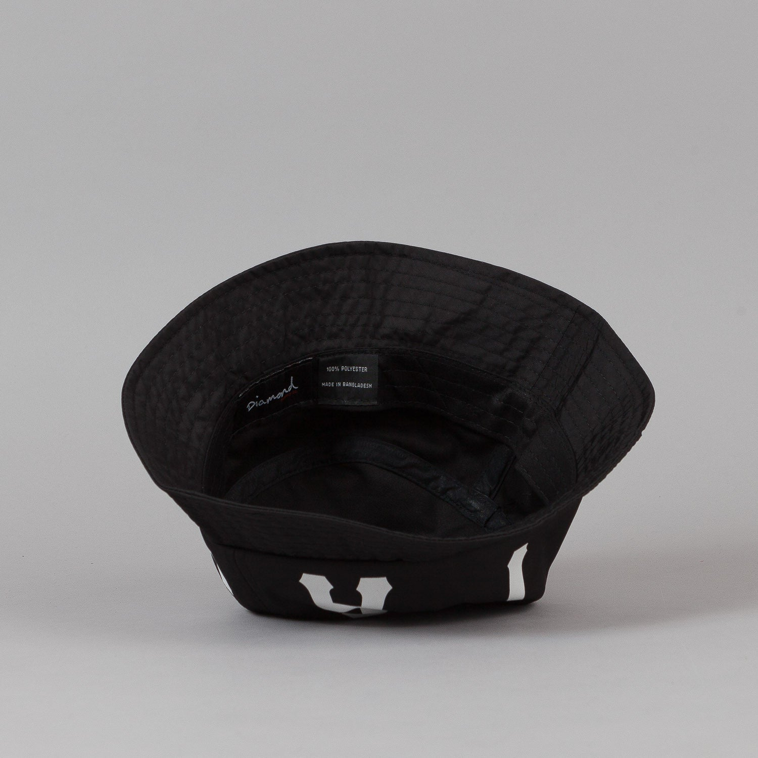 Diamond Dugout Bucket Hat - Black