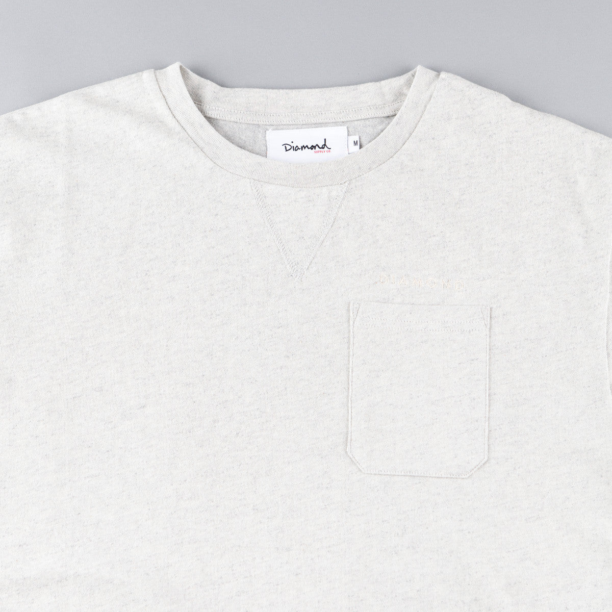 Diamond Facet Pocket T-Shirt - Wood Ash