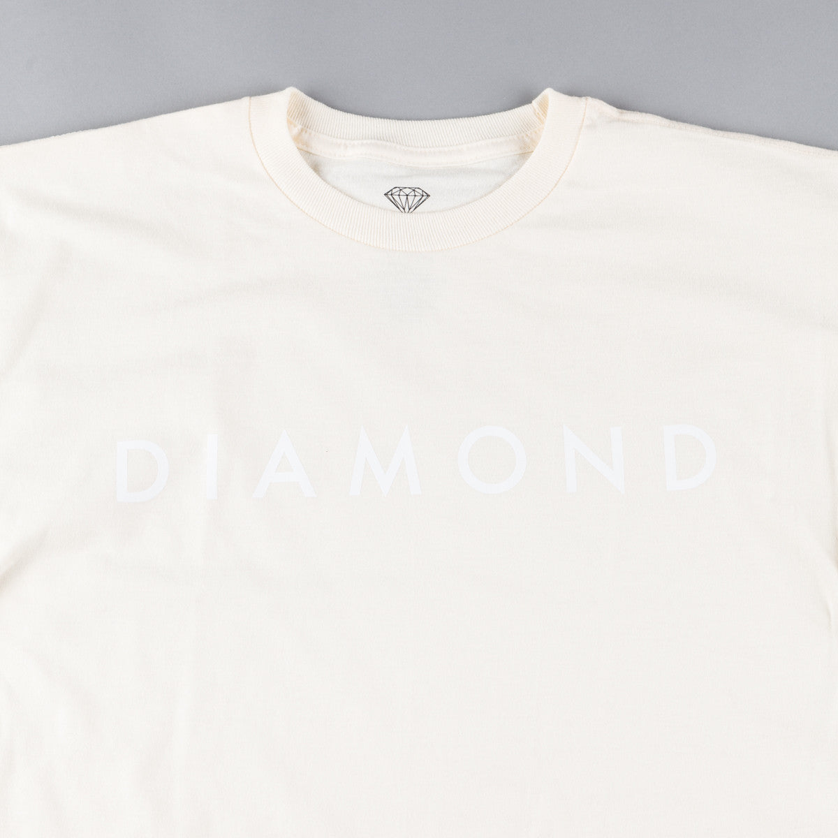 Diamond Facet Tonal T-Shirt - Cream