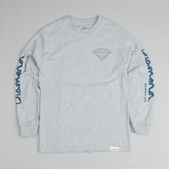 Diamond Fairisle Long Sleeve T-Shirt Heather Grey