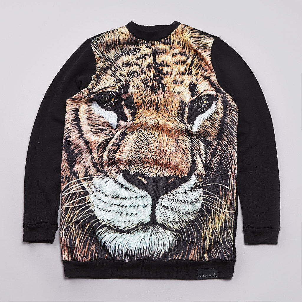 Diamond Fillmore Lion Crew Neck Sweatshirt Black