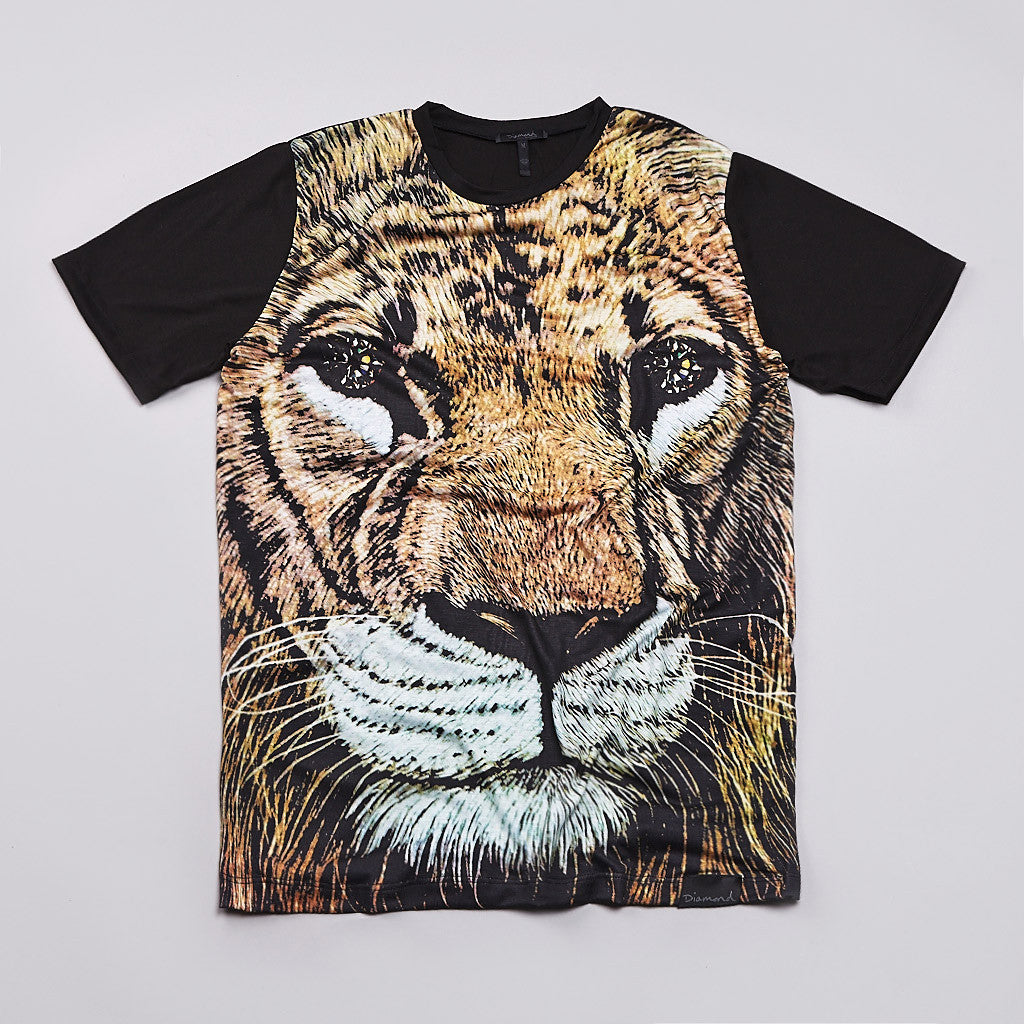 Diamond Fillmore Lion T Shirt Black