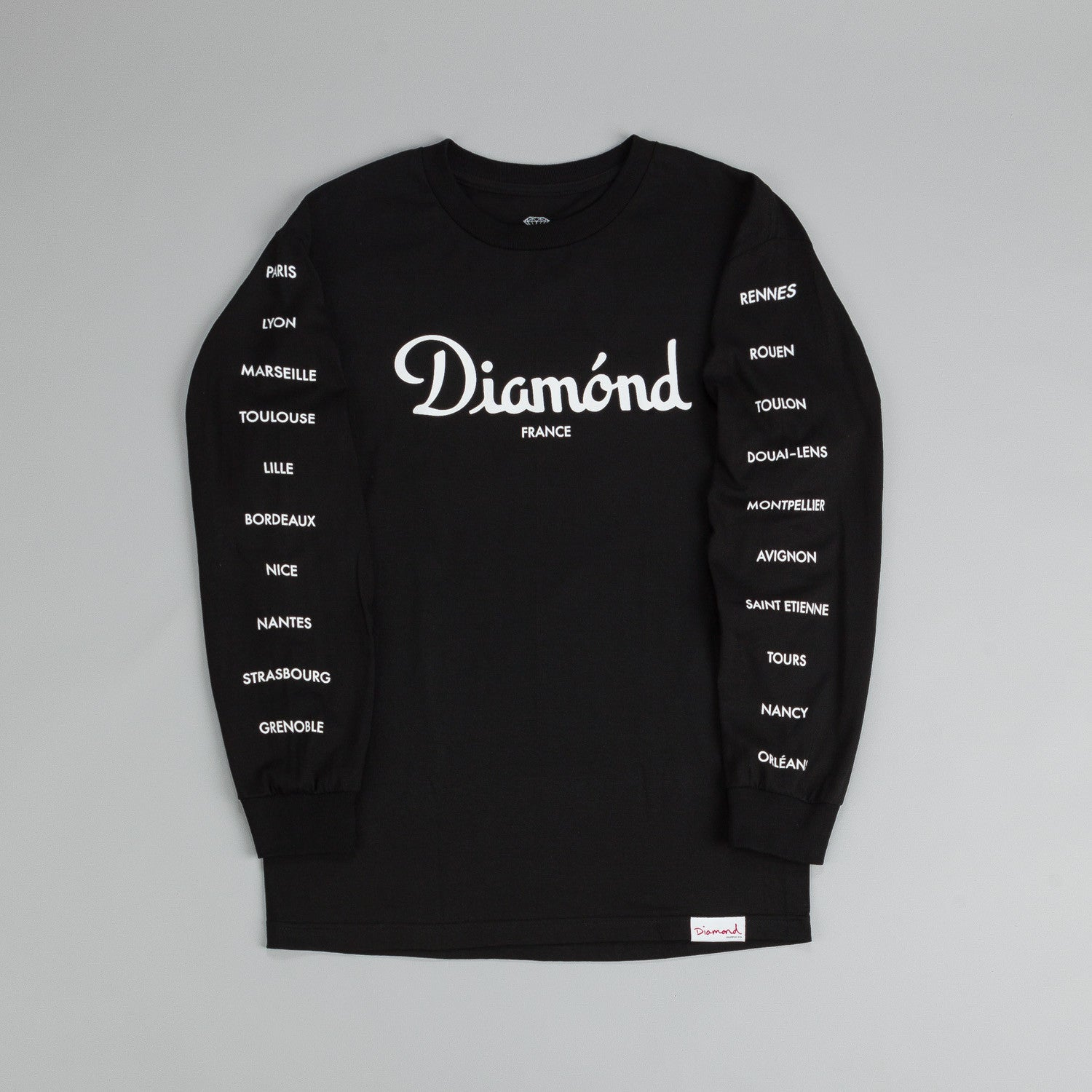 Diamond France L/S T Shirt Black