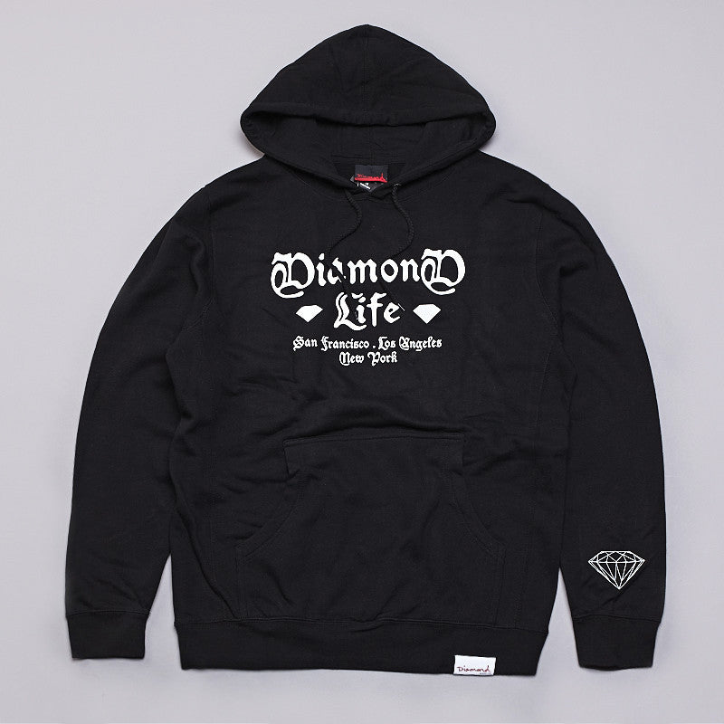 Diamond Gang Hooded Sweatshirt Black