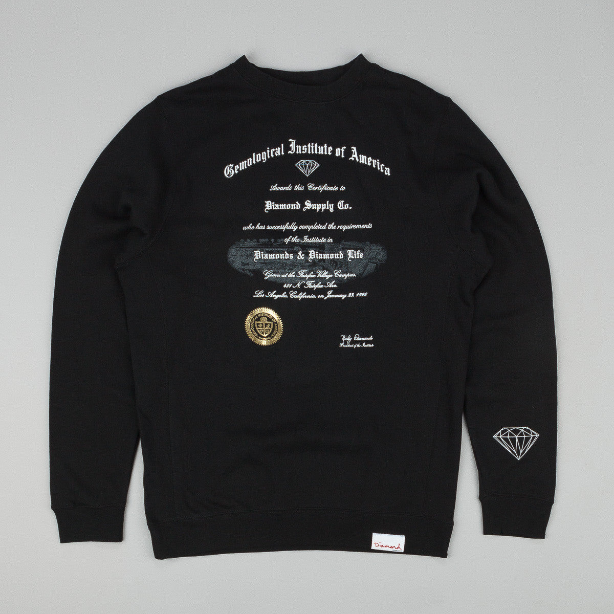 Diamond Gem Institute Crew Neck Sweatshirt Black