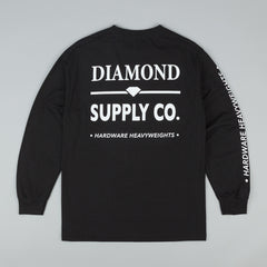 Diamond Hardware Lock Long Sleeve T-Shirt - Black