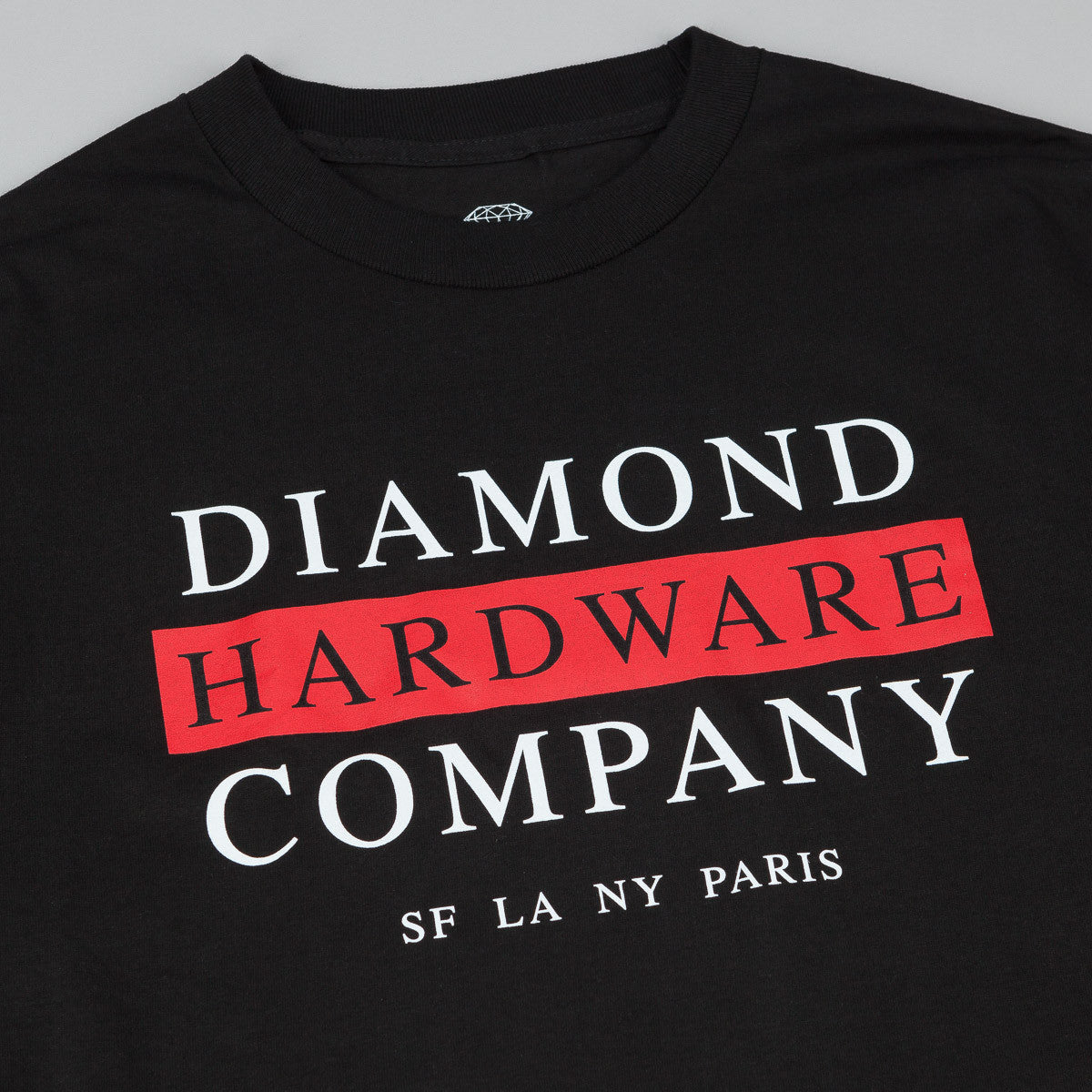 Diamond Hardware Stack Long Sleeve T-Shirt - Black