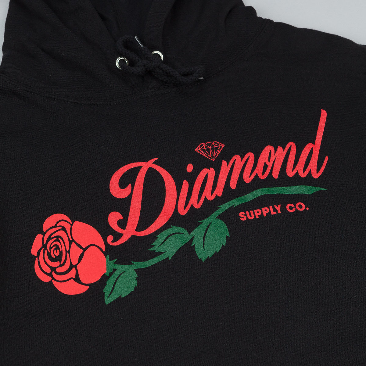 Diamond La Rosa Hooded Sweatshirt - Black