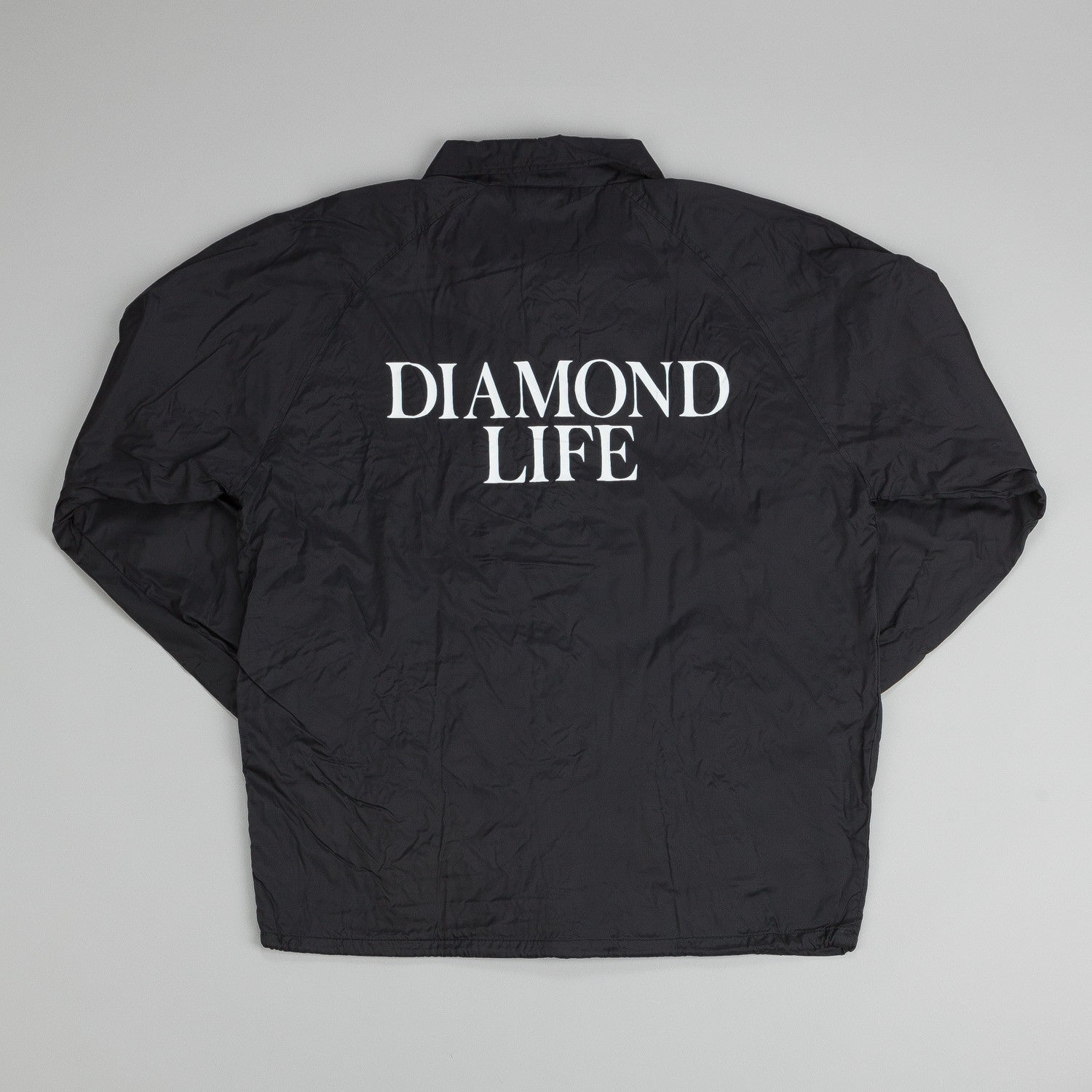 Diamond Life Coach Jacket Black