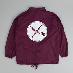 Diamond Lightning Coach Jacket Burgundy