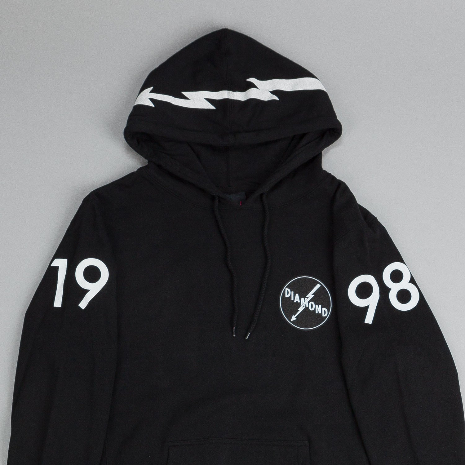 Diamond Lightning Hooded Sweatshirt Black