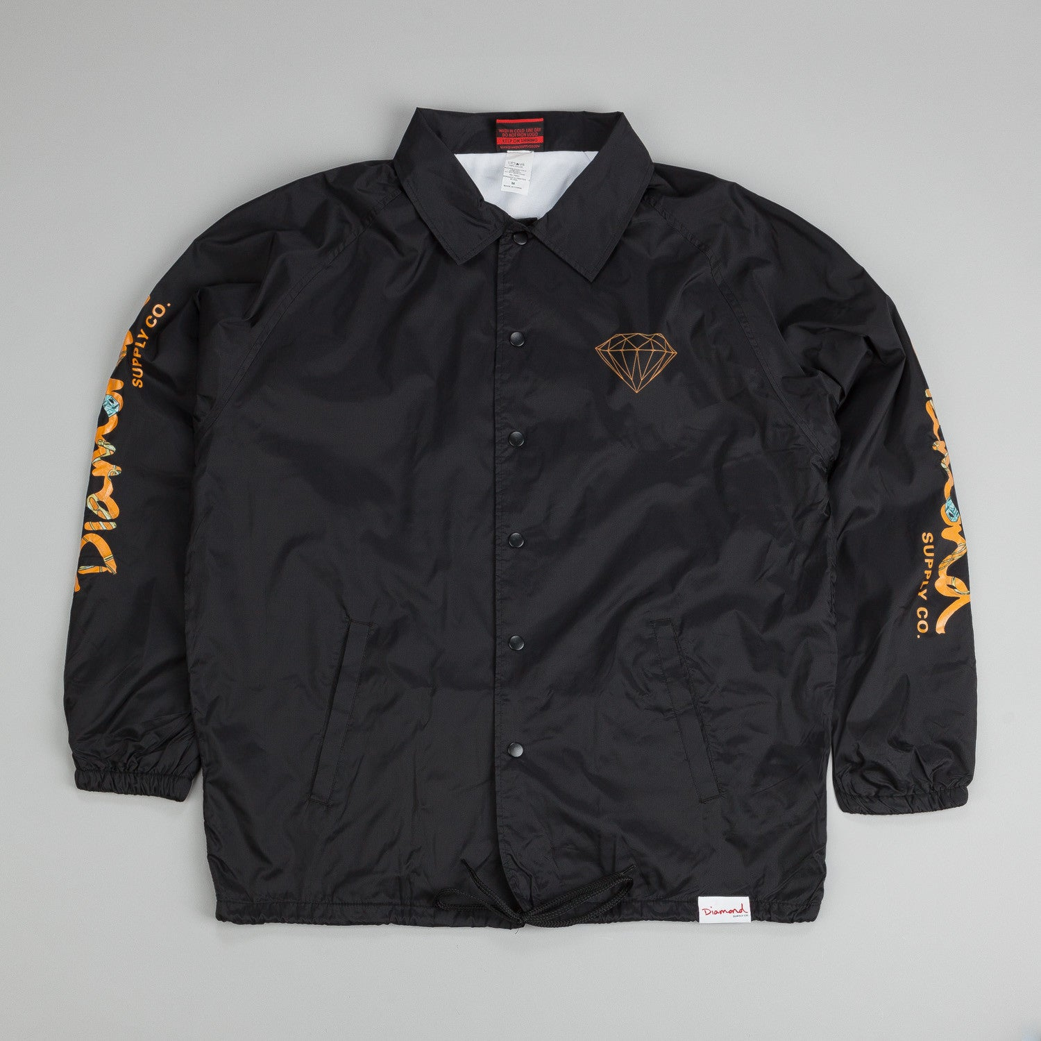 Diamond Low Life Coach Jacket Black