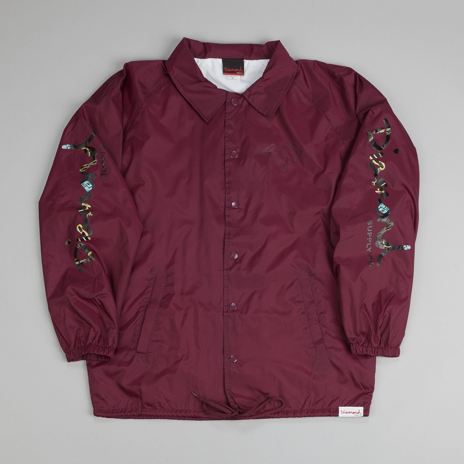 Diamond Low Life Coach Jacket Burgundy