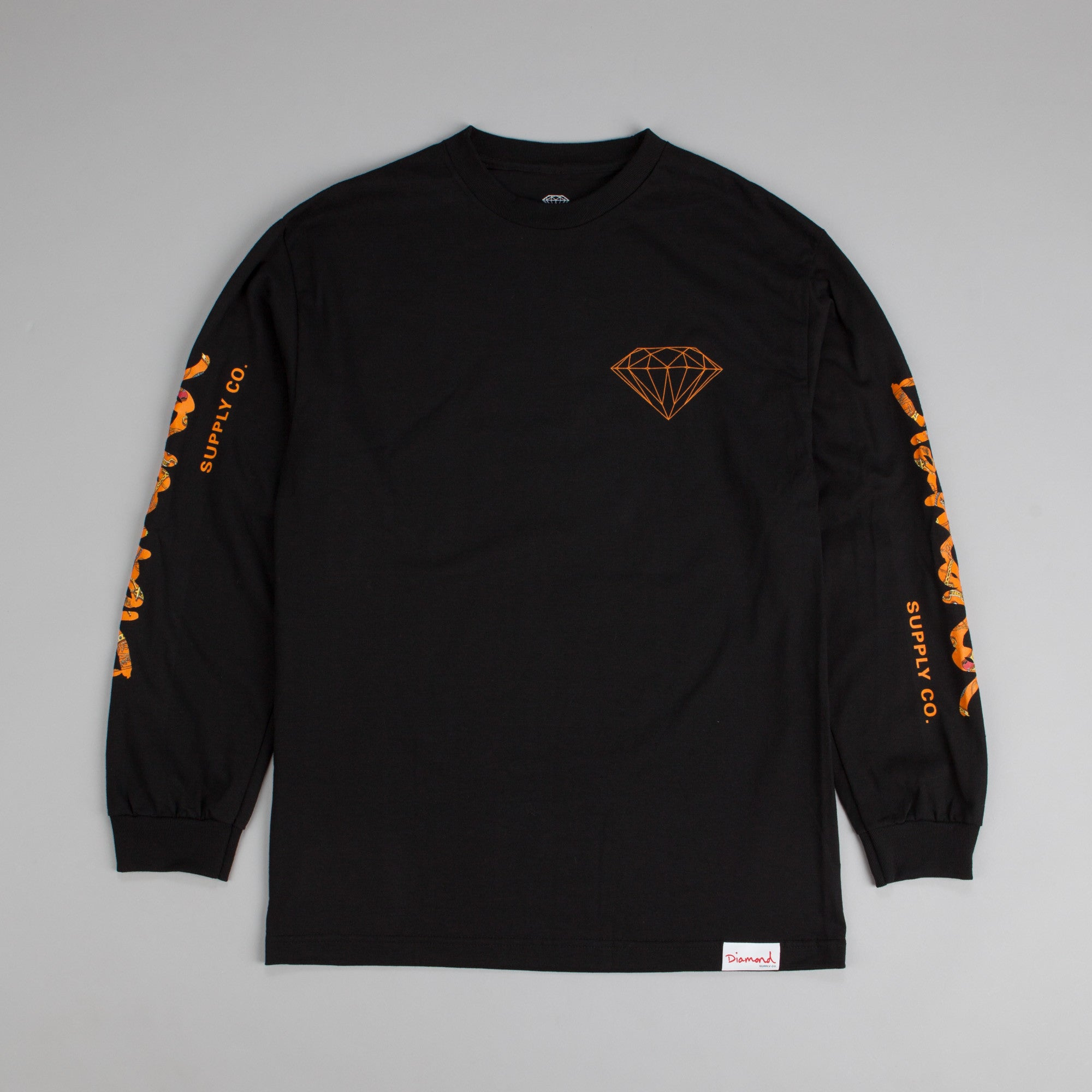 Diamond Low Life Long Sleeve T Shirt Black