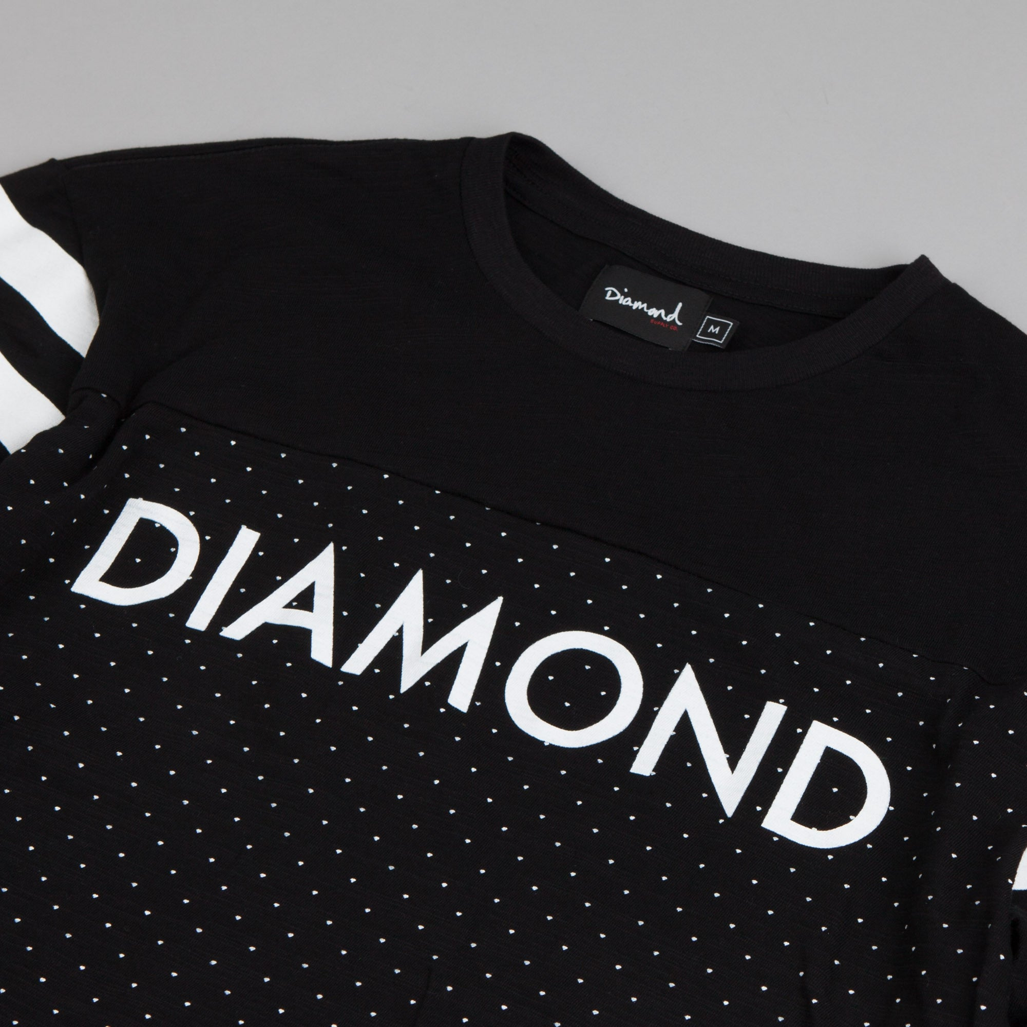 Diamond Micro Diamond Football Top Black
