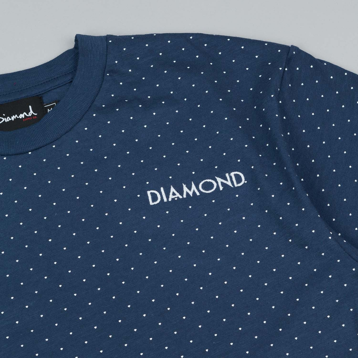 Diamond Micro Diamond T Shirt Navy