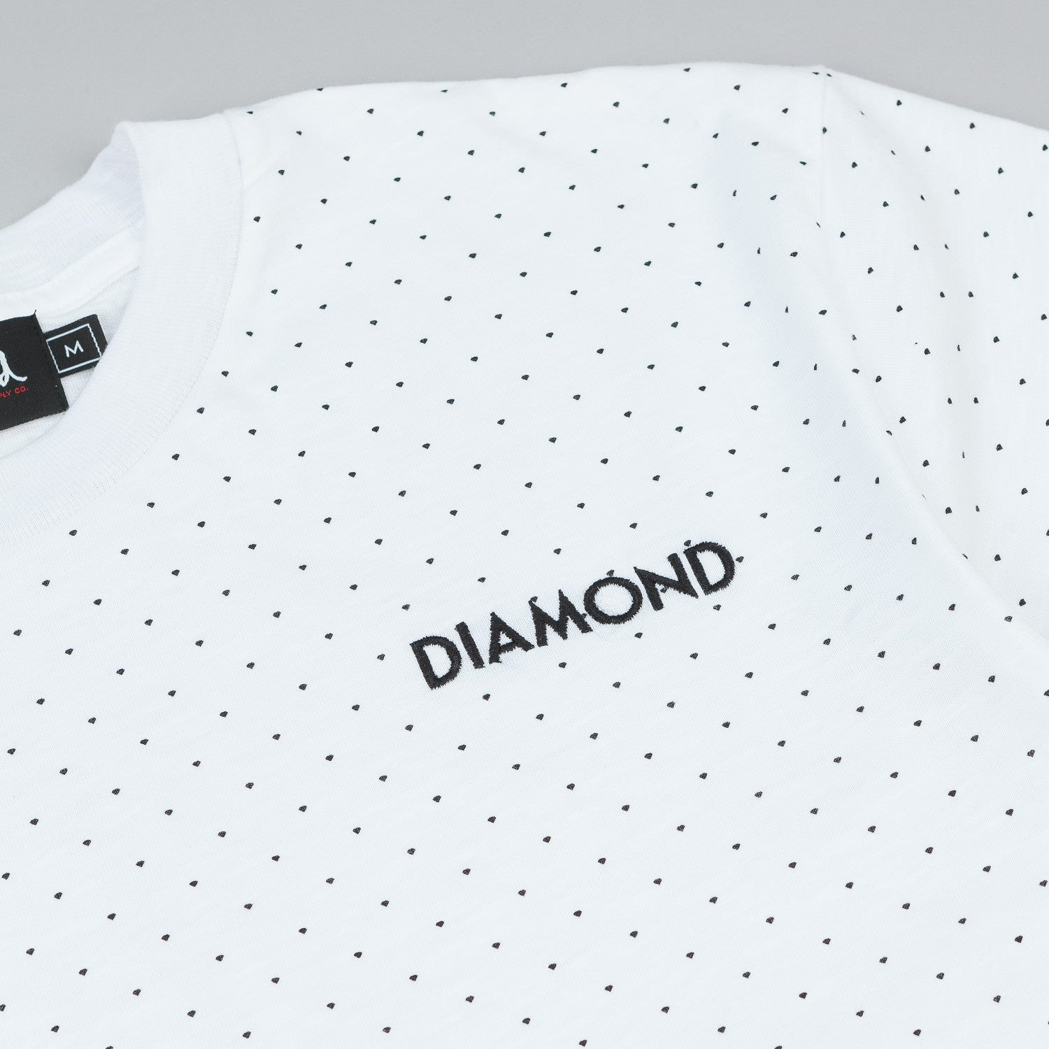 Diamond Micro Diamond T Shirt White