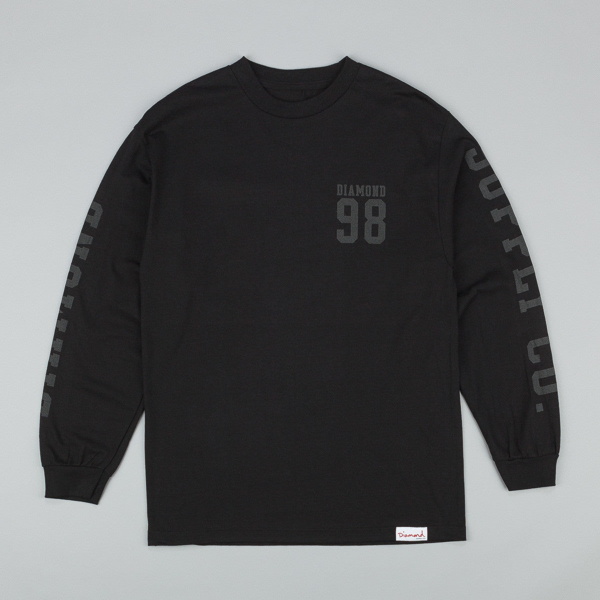 Diamond Nine Eight Long Sleeve T-Shirt - Black