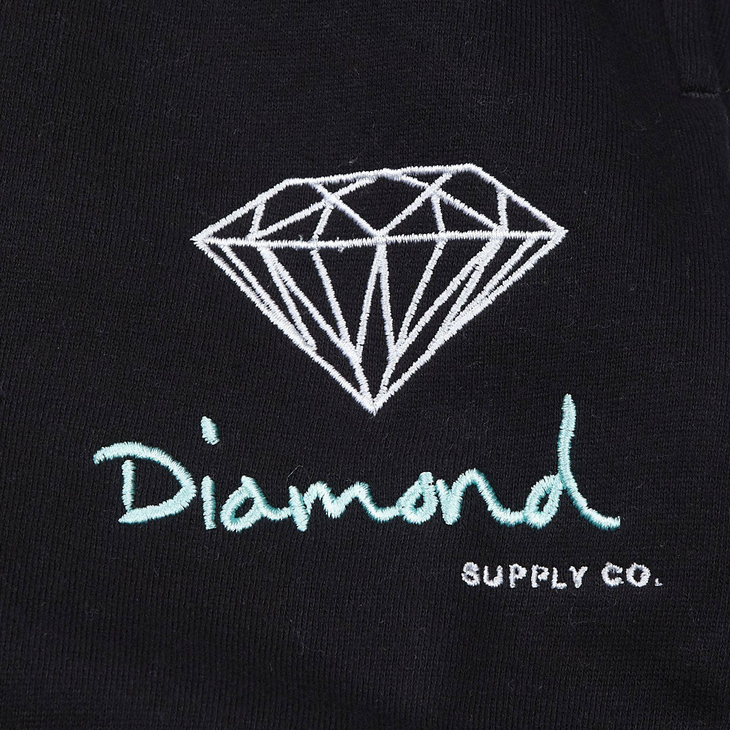 Diamond OG Logo Sweatpants Black / Diamond Blue / White