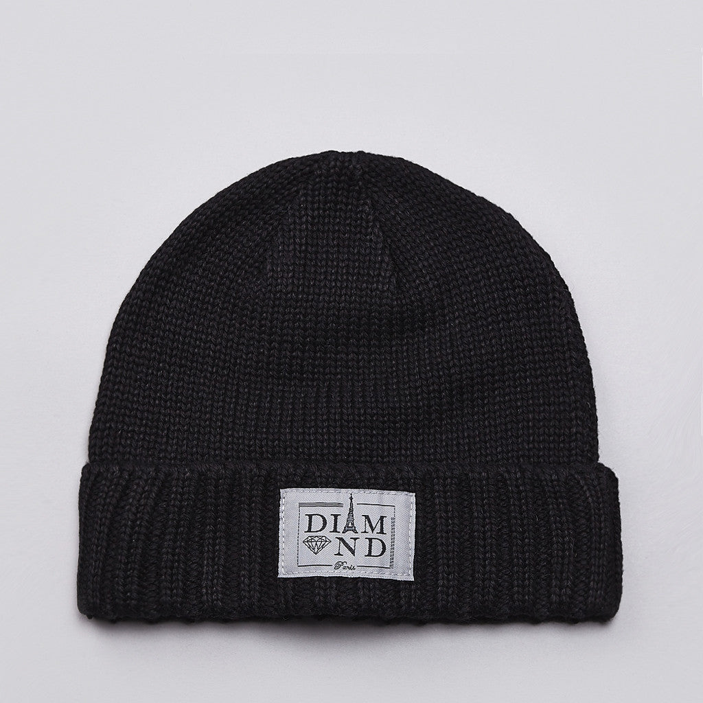 Diamond Paris City Cuff Beanie Black