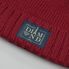 Diamond Paris City Cuff Beanie Burgundy