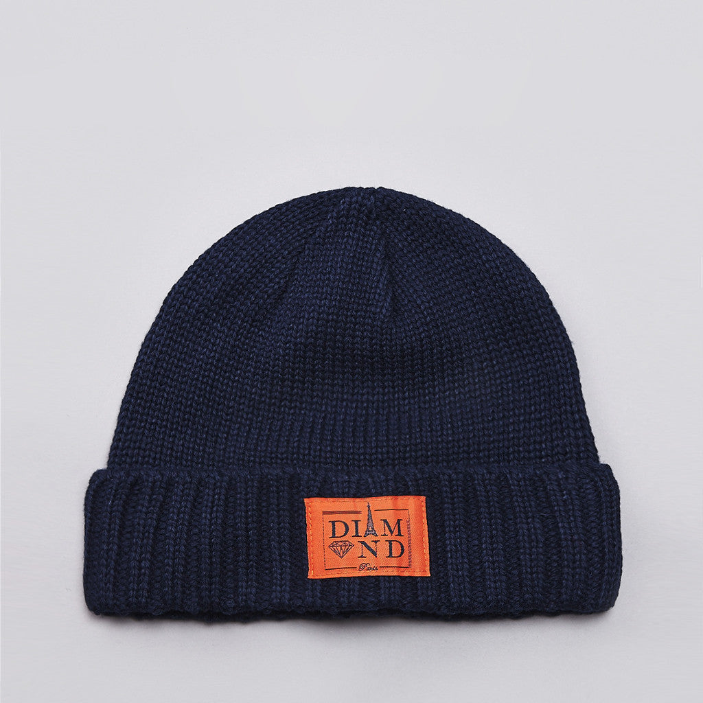 Diamond Paris City Cuff Beanie Navy