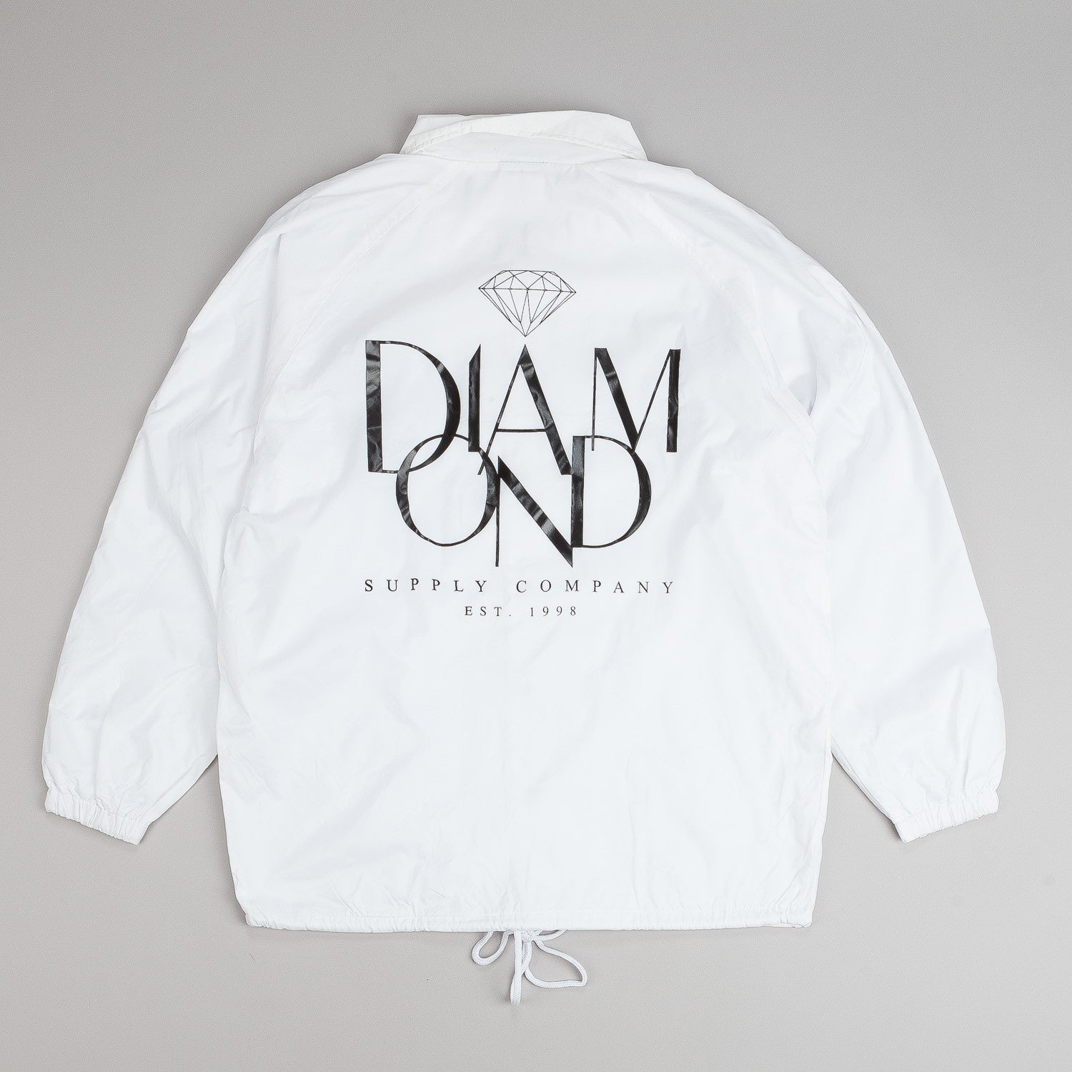 Diamond Parisian Coach Jacket - White