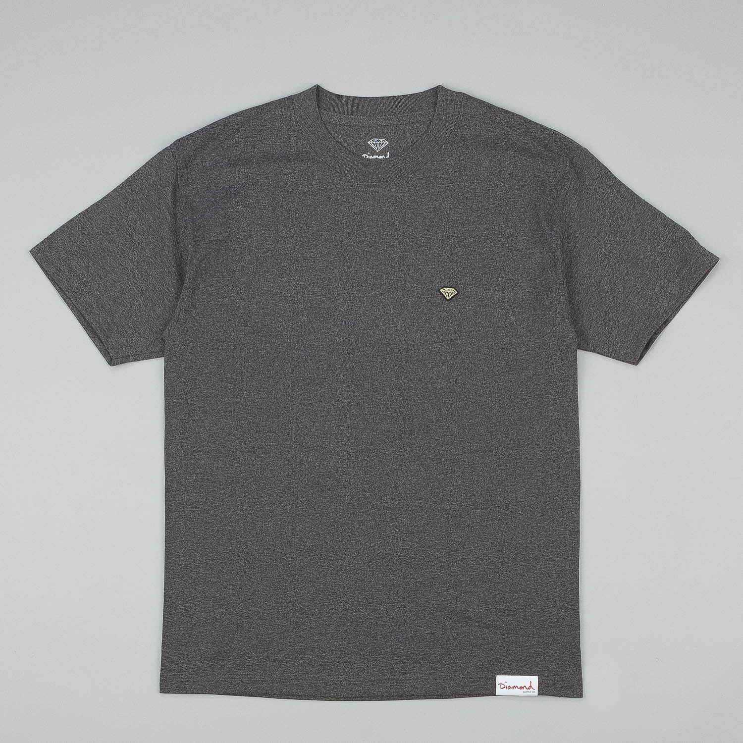 Diamond Patch T-Shirt - Char Heather