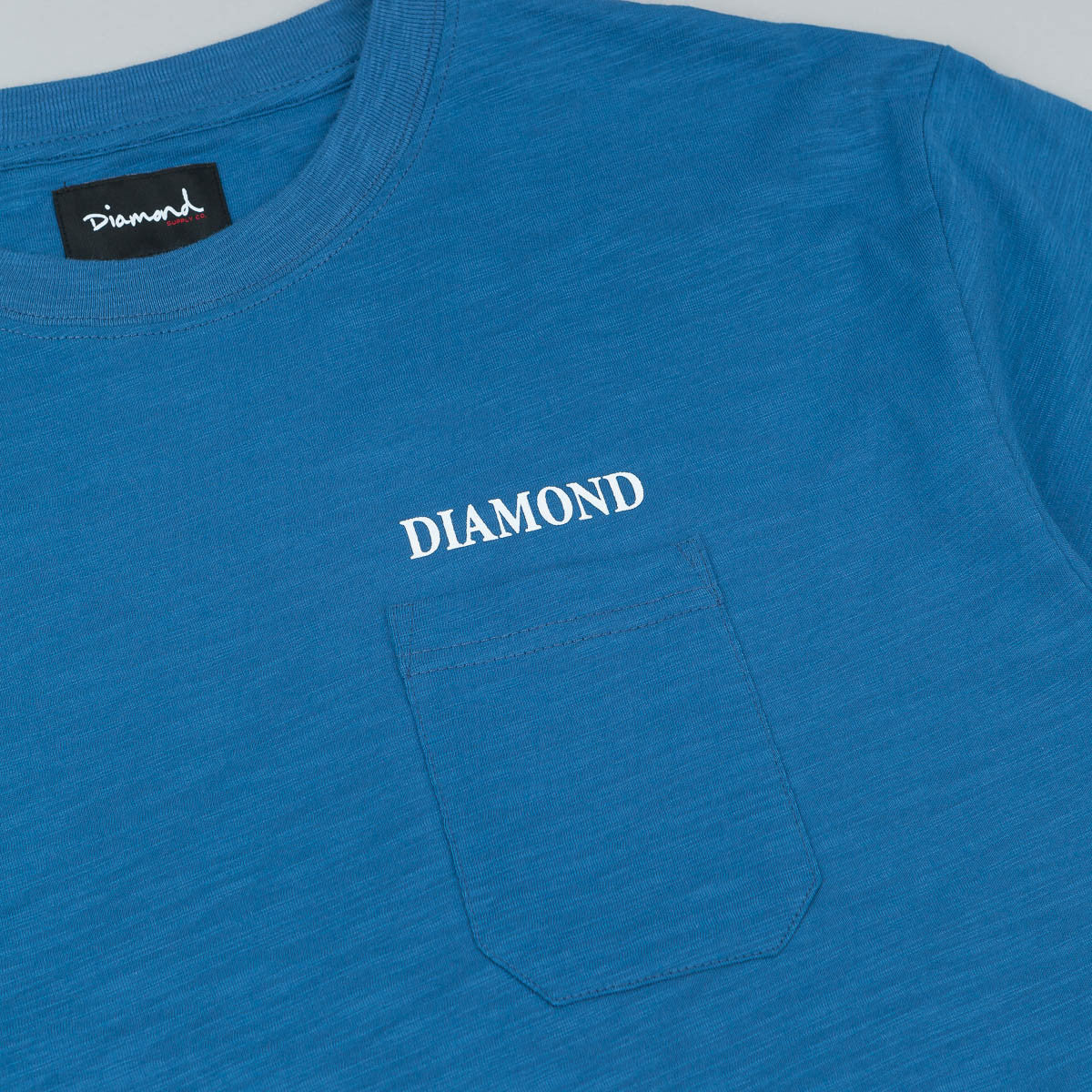 Diamond Pocket T-Shirt - Indigo