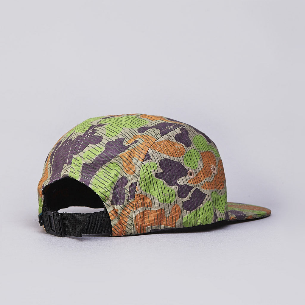 Diamond Rainfrog Camo 5 Panel Camp Cap Tan Camo