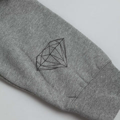 Diamond Ring Crew Sweatshirt Heather Grey