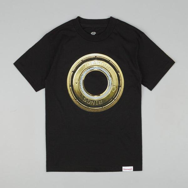Diamond Ring T Shirt Black