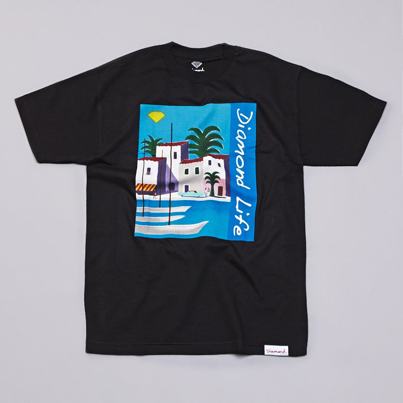 Diamond Riviera T Shirt Black