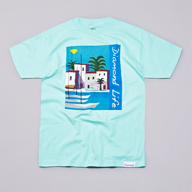 Diamond Riviera T Shirt Diamond Blue