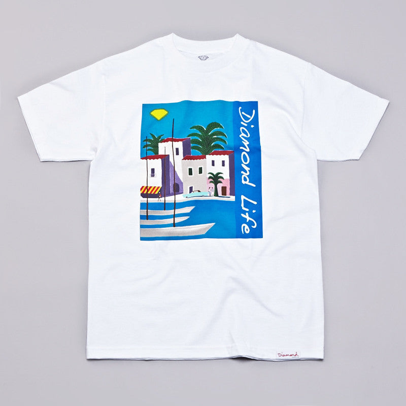 Diamond Riviera T Shirt White