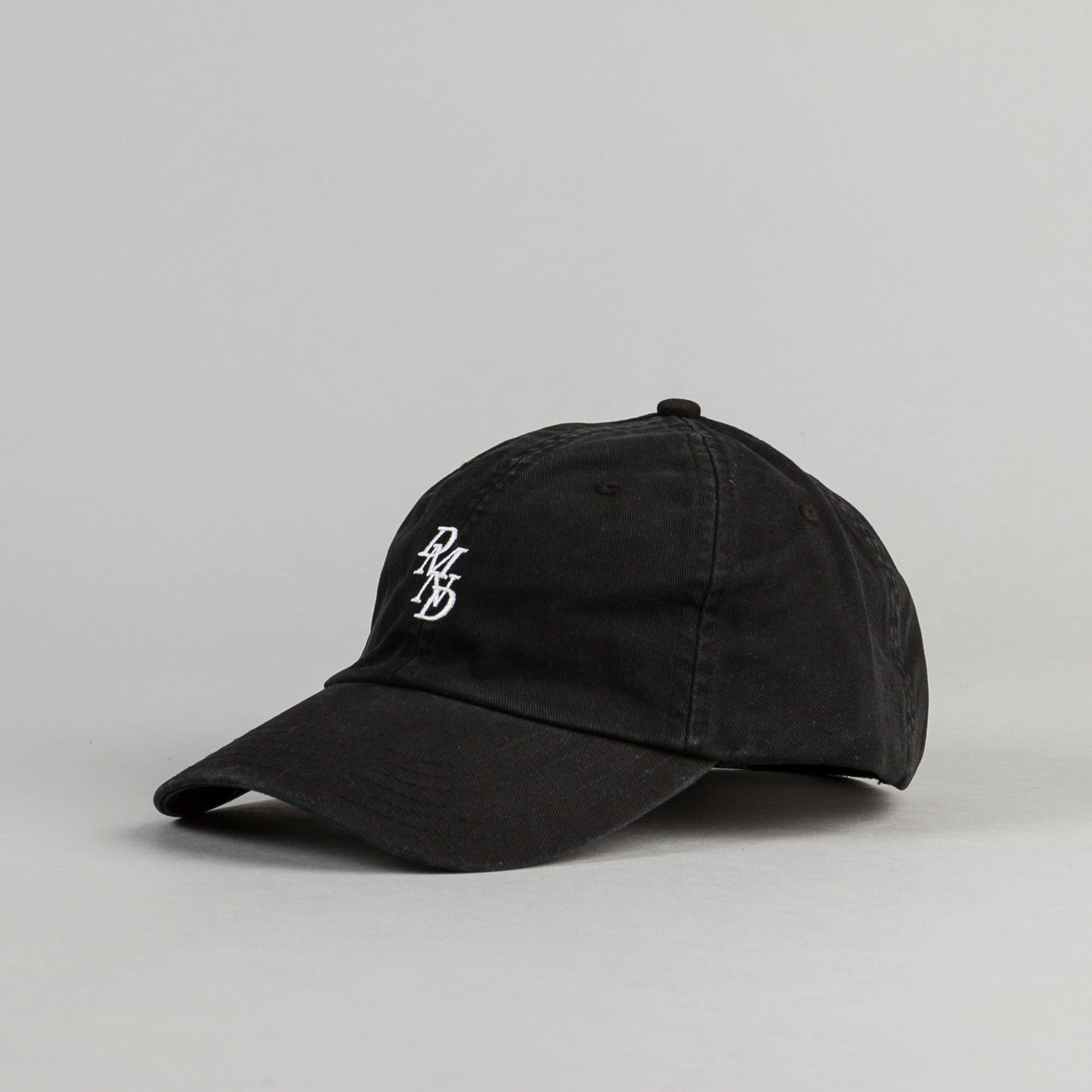 Diamond Serif Sports Cap - Black