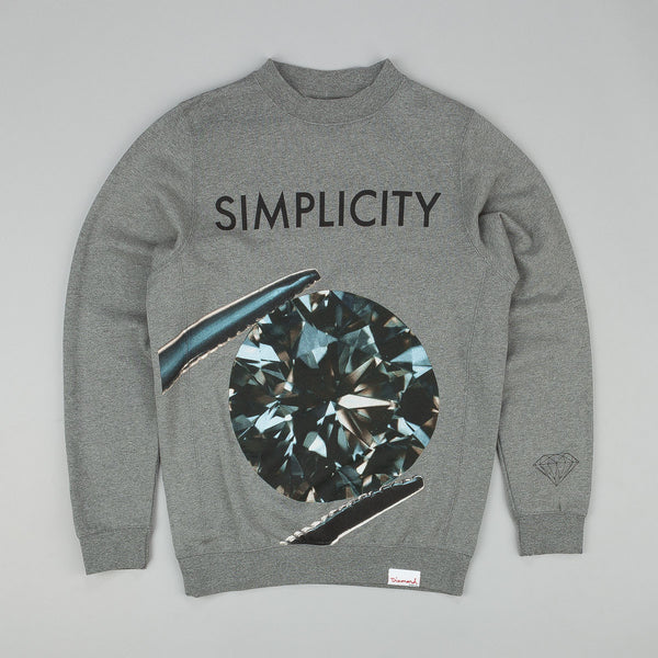 Diamond Simplicity Sweatshirt Gunmetal Heather
