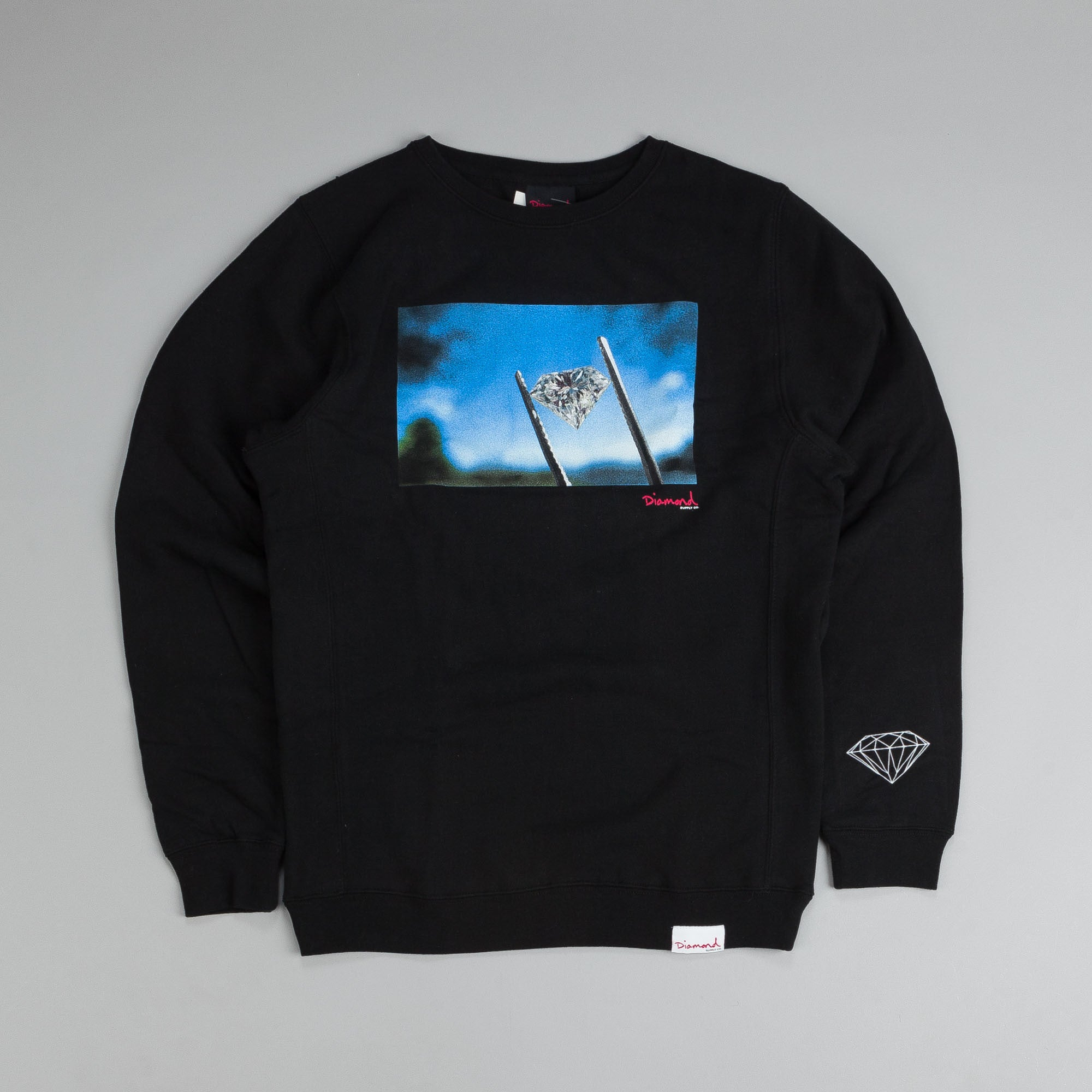 Diamond Sky Crew Sweatshirt Black